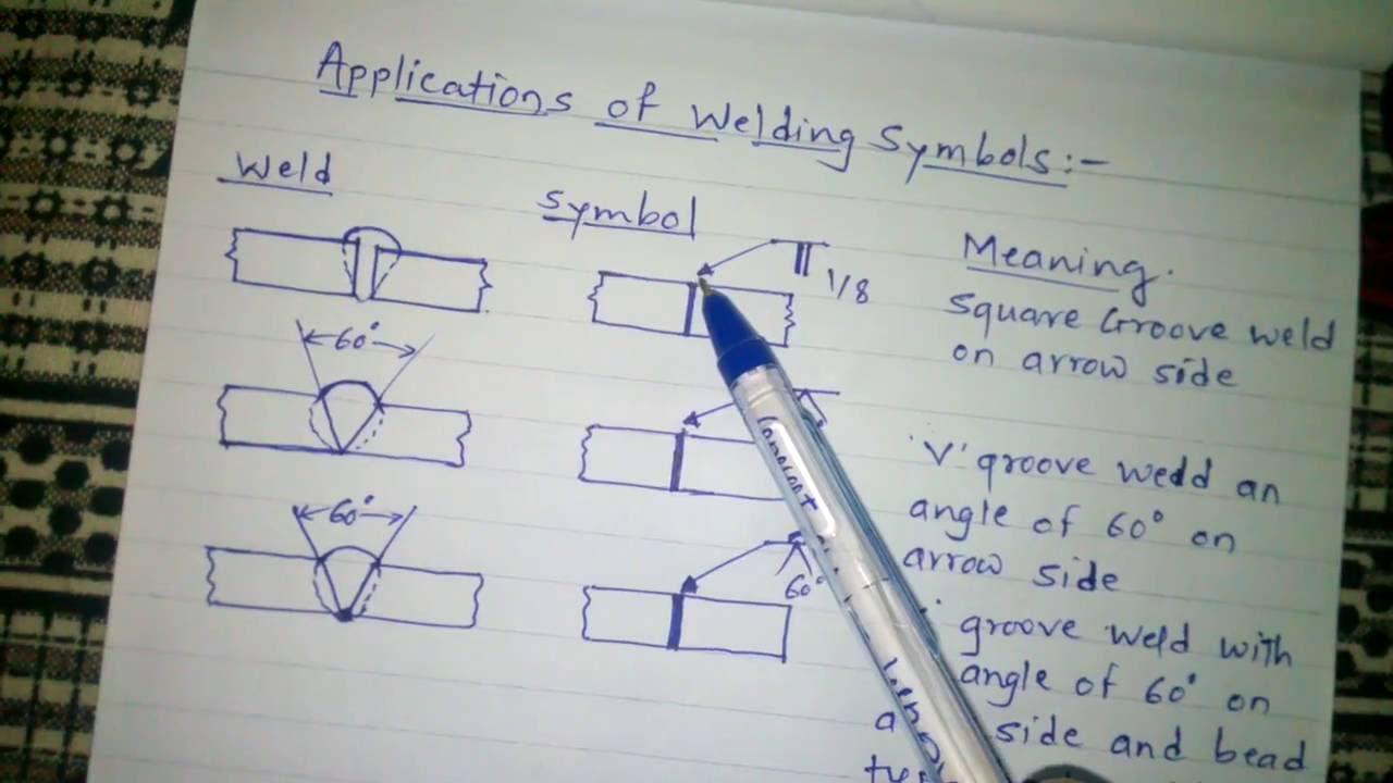 medium resolution of welding symbols application in fabrication drawing part1