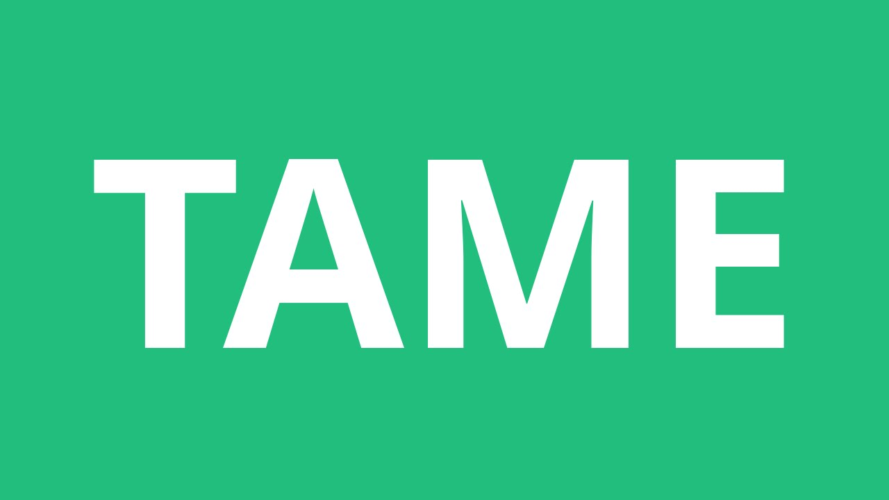 How To Pronounce Tame - Pronunciation Academy