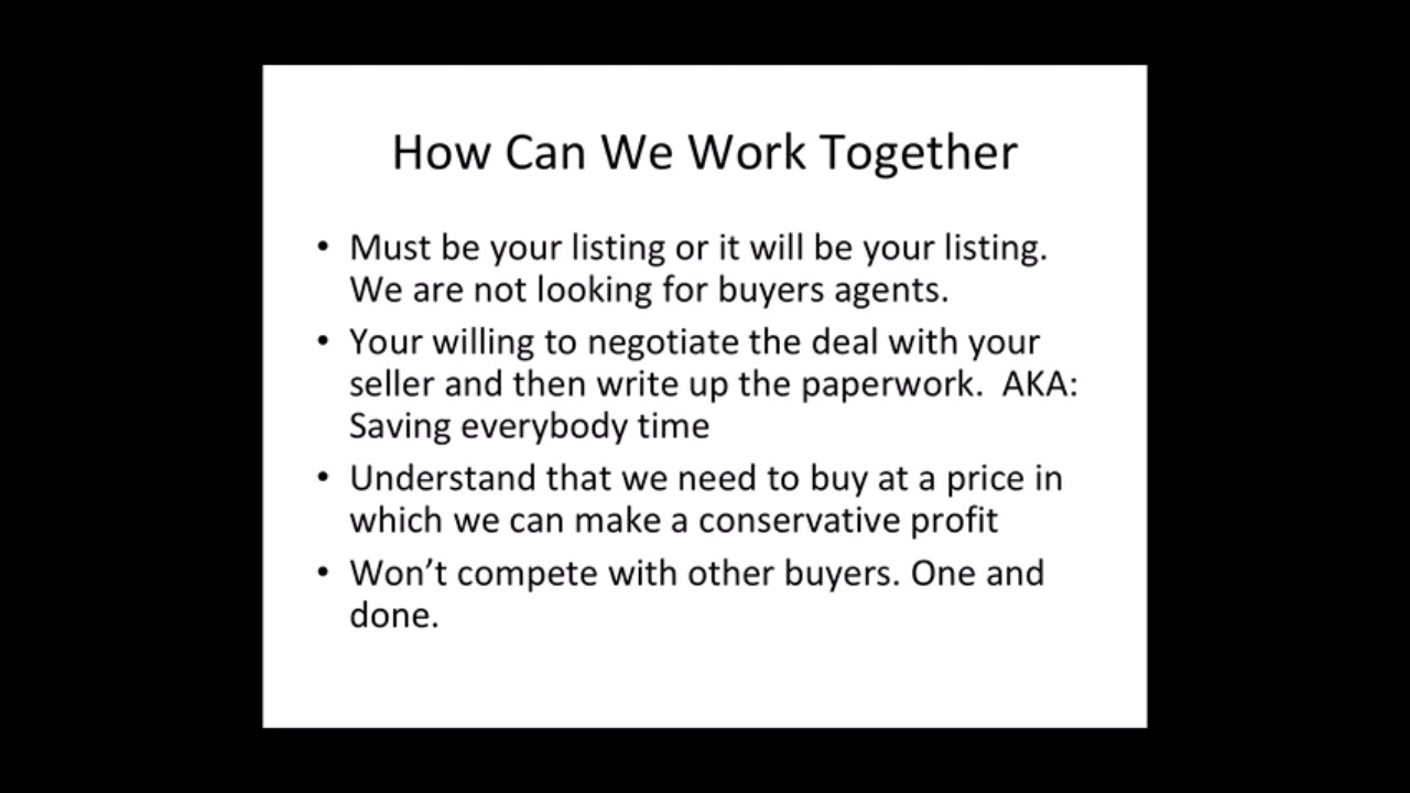 How We Work with Real Estate Agents