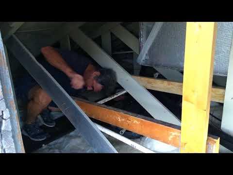 Attic AC drain pipe dripping