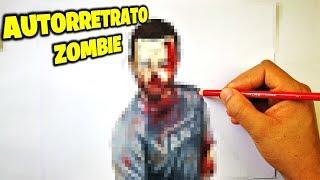 Desafió de autorretrato ZOMBI. Me dibujo como Zombie. Como Dibujarte como Zombie