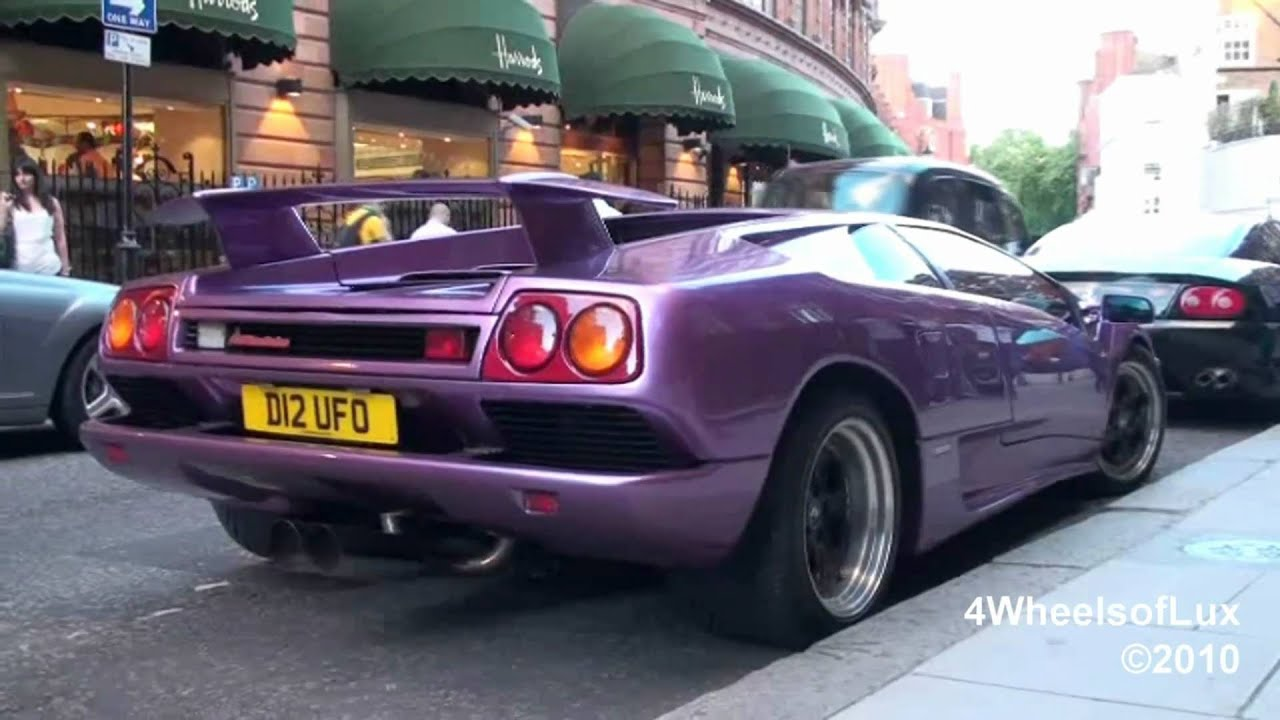 Purple Lamborghini Diablo Revving Youtube