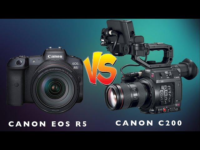 Canon C200 vs Eos R5. Which one should you get? Test Side to Side Footage