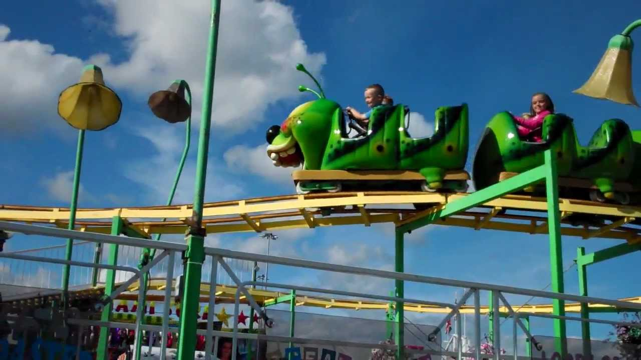 The Evergreen State >> Junior and Lucas on the Caterpillar Roller Coaster - YouTube