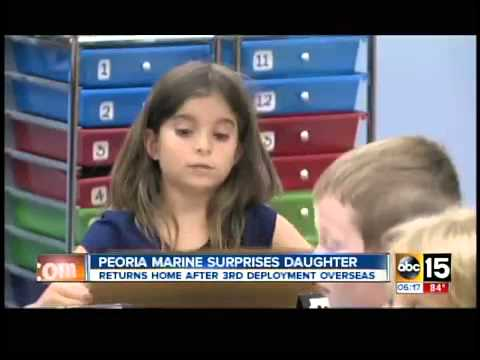 AZ marine crashes daughter's class