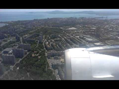 Landing at Bourgas Airport A320