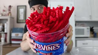 Giant 3.5lb Red Vines Barrel (challenge)