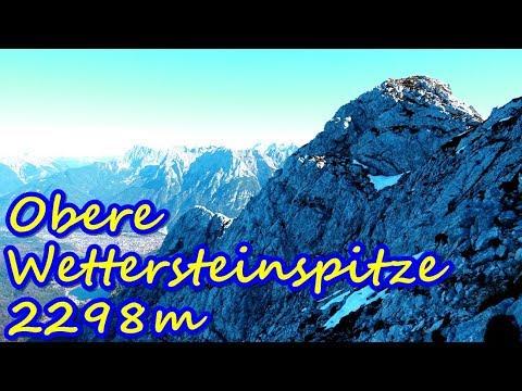 Obere Wettersteinspitze 2298m - Steinschlag in der Nordwand - einsames Kletterabenteuer