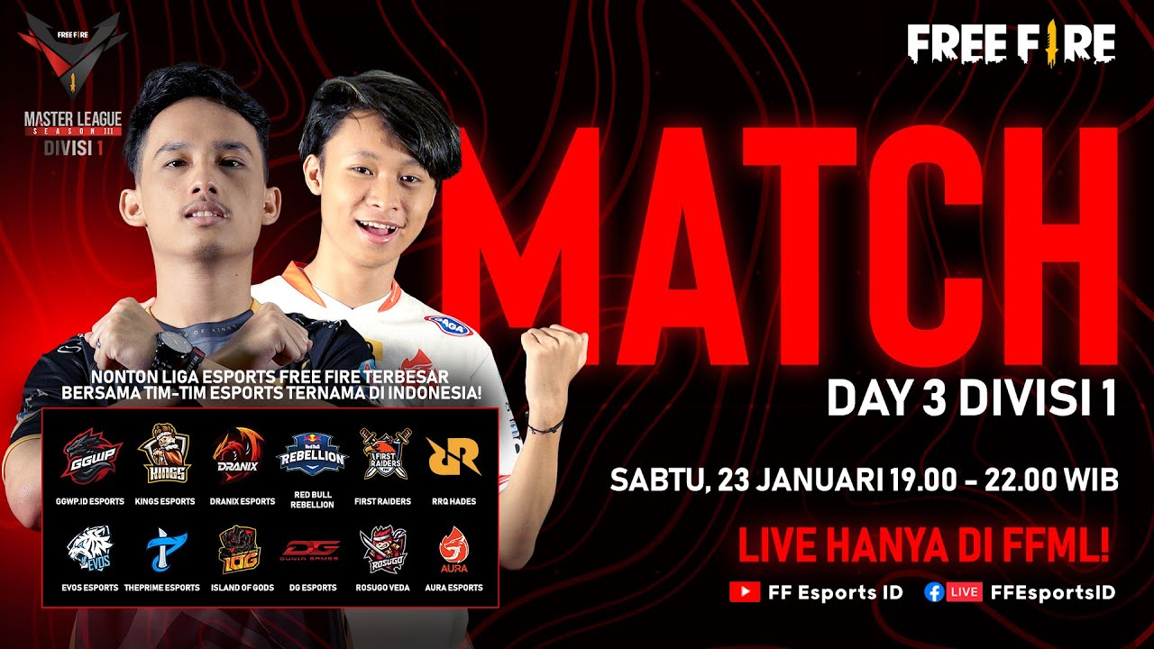 Download [2021] Free Fire Master League Season III Divisi 1 - Match Day 3