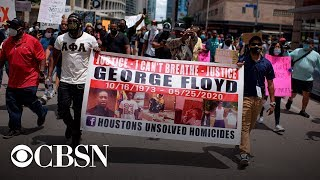 Watch live: George Floyd's family, Trae the Truth join Houston march