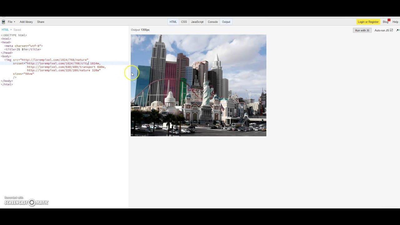 HTML srcset attribute - responsive images - PART 2