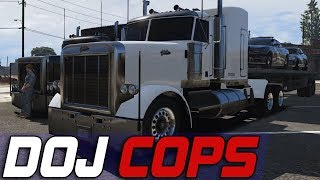Dept. of Justice Cops #582 - Truck Hauling For DPS