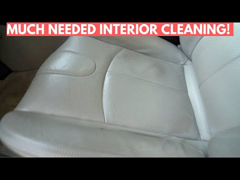 Detailing 10-Year Old Leather Car Interior For New Owner