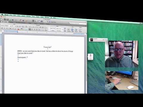 Using Voice Recognition for Transcription