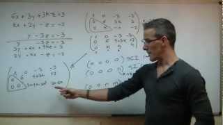 Discutir un sistema 03 BACHILLERATO Reduccion Gauss Jordan