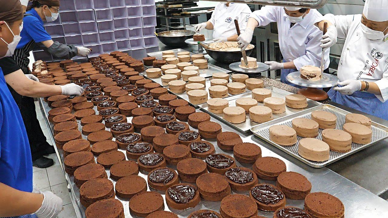 노장의 제빵장인들이 뭉쳤다! 선주문 600개 초코케익 대량생산  / Mass production of 600 chocolate cakes - Cake factory