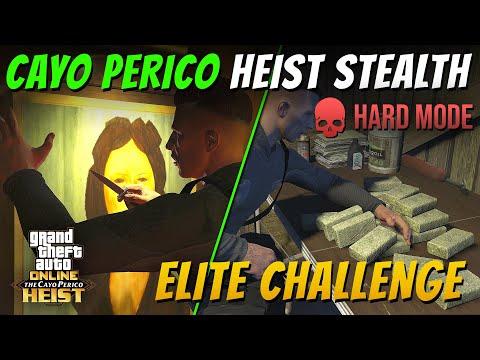 Cayo Perico Heist Stealth Solo - Elite Challenge In Hard Mode (GTA Online)