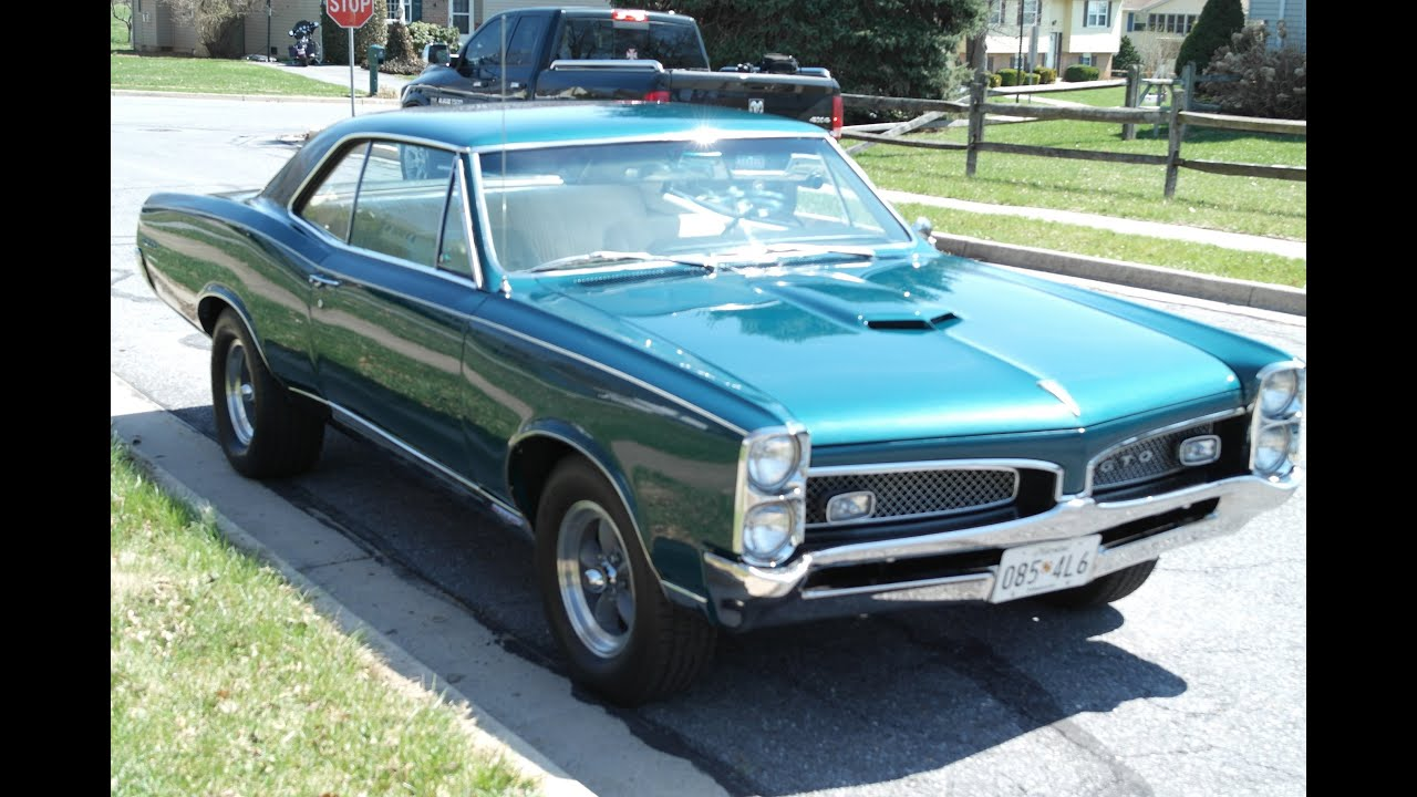 MUSCLE CAR FOR SALE 1967 GTO MATCHING NUMBERS 4 SPEED SOLD SOLD SOLD @ ERICS MUSCLE CARS - YouTube