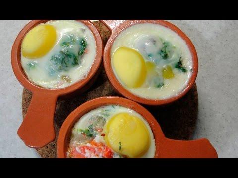 Яйца-кокот - быстрый, вкусный и сытный завтрак