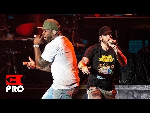 Eminem ft 50 Cent  Patiently Waiting, In Da Club, I Get Money, Crack a Bottle Multicam NY 2018