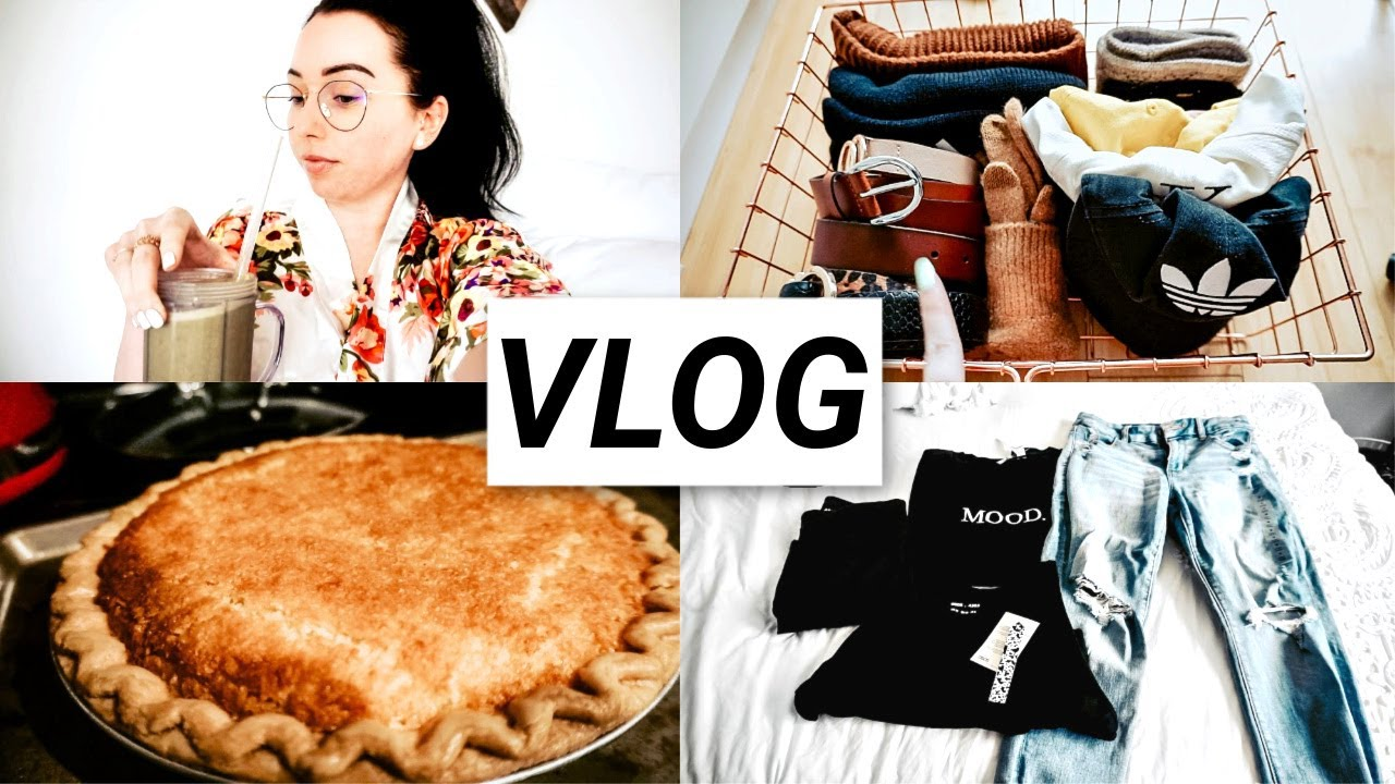 Home Projects, Container Store Organization, Pie for Breakfast, Steam Mop, Asos Haul | VLOG