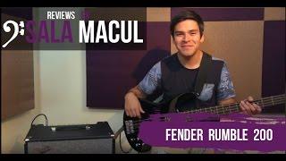 Reviews en Sala Macul // Fender Rumble 200