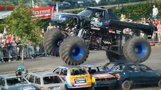 Out Of Control Monster Truck Crashes Into Crowd