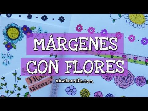 Márgenes Para Cuadernos Y Bordes Para Cartas Con Flores 3