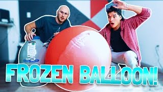 GIANT BALLOON vs LIQUID NITROGEN!