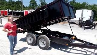 Heavy Duty Dump Trailer 6' x 10' With 3500lb Axles Review