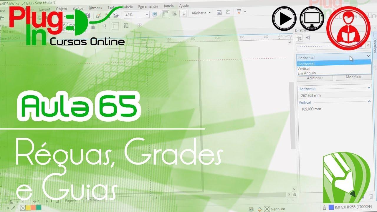 coreldraw x7 aula 65 \u2013 réguas, grades e guias youtube
