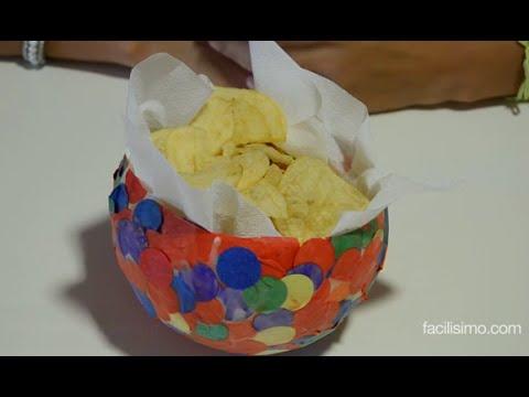 C mo hacer un bol con confeti youtube for Como hacer confeti