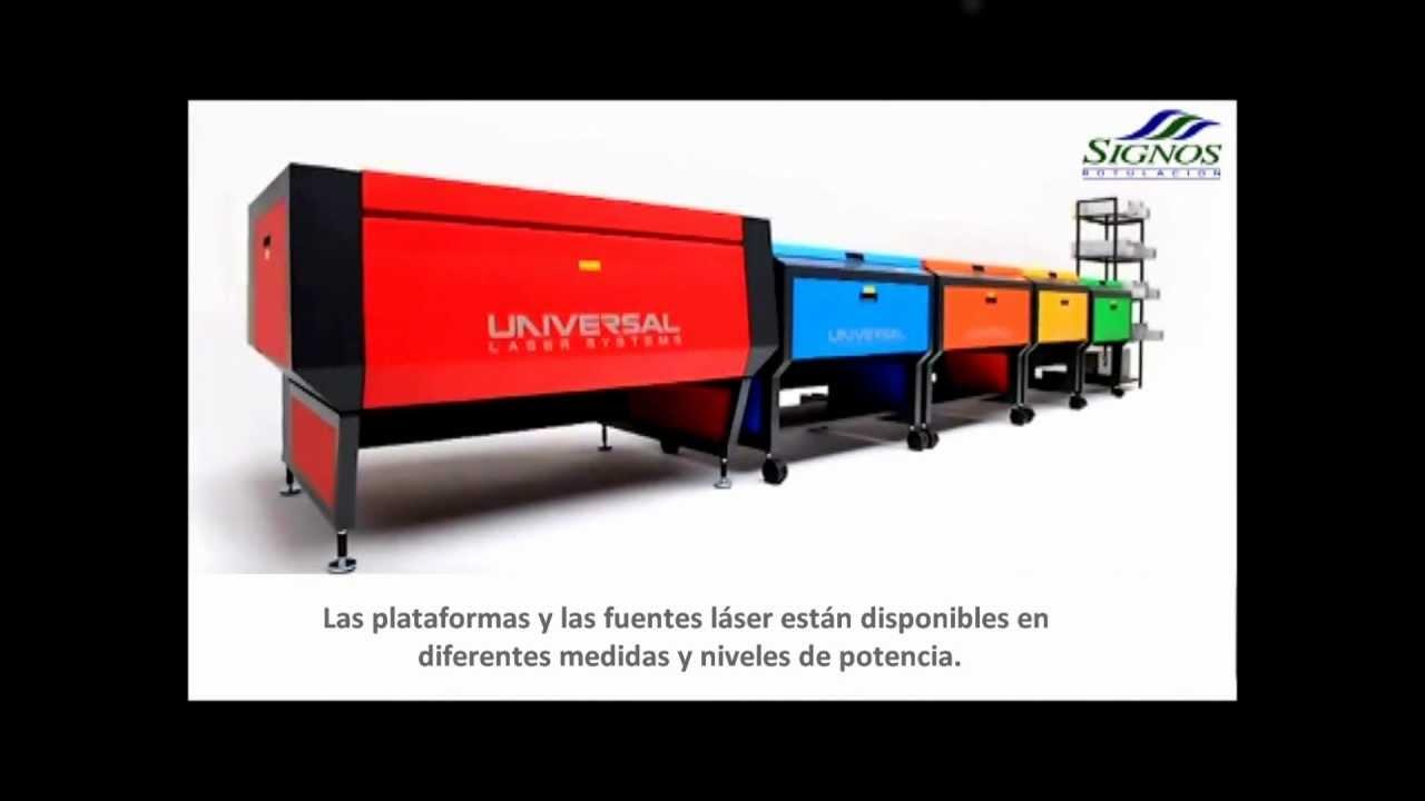 Universal laser system solo en signos rotulaci n youtube for Universal laser systems