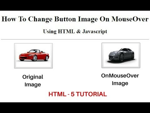 Html Javascript Input Button On Mouseover, Mouseout Change Image