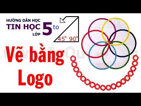 🐢 Hướng dẫn vẽ chuỗi hạt và 6 đường tròn bằng phần mềm Logo 🐢 Bài 6 🐢 Chủ đề 4 🐢 Tin Học Lớp 5