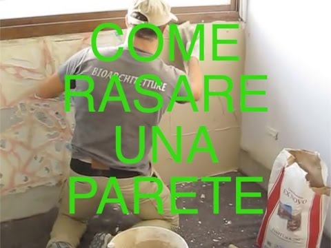 Come rasare un muro interno vlog tutorial casa youtube