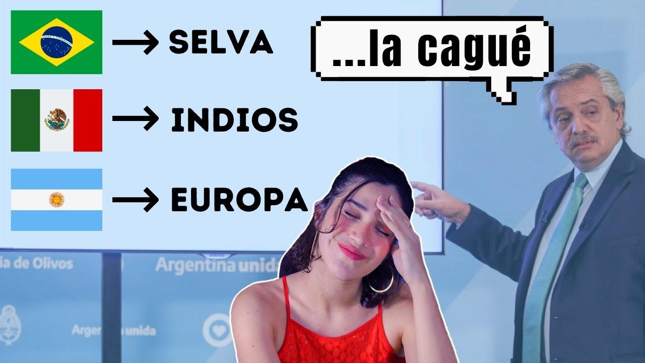 Entonces el Presidente de Argentina piensa que salimos de los INDIOS y de la SELVA.....Que no mame