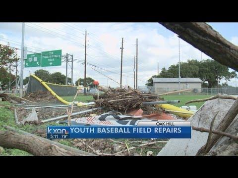 Texas baseball, business communities pitch in to rebuild flood-ravaged Oak Hill fields