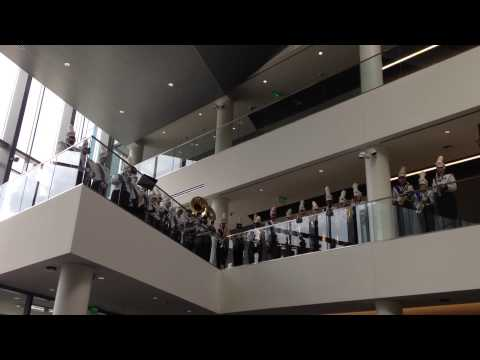 UMass Lowell Fight Song at University Crossing Grand Opening
