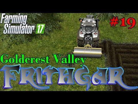 Let's Play Farming Simulator 2017, Goldcrest Valley #19: Using The Roller And Bigger Fields!