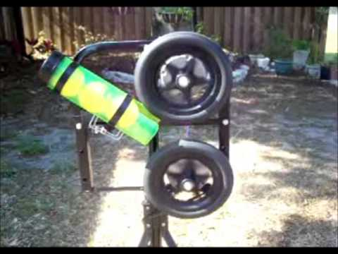 how to make a tennis ball launcher for physics