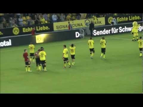 BVB - HSV Stimmung nach dem Spiel 3-1 05.08.2011 Borussia Dortmund Hamburger SV