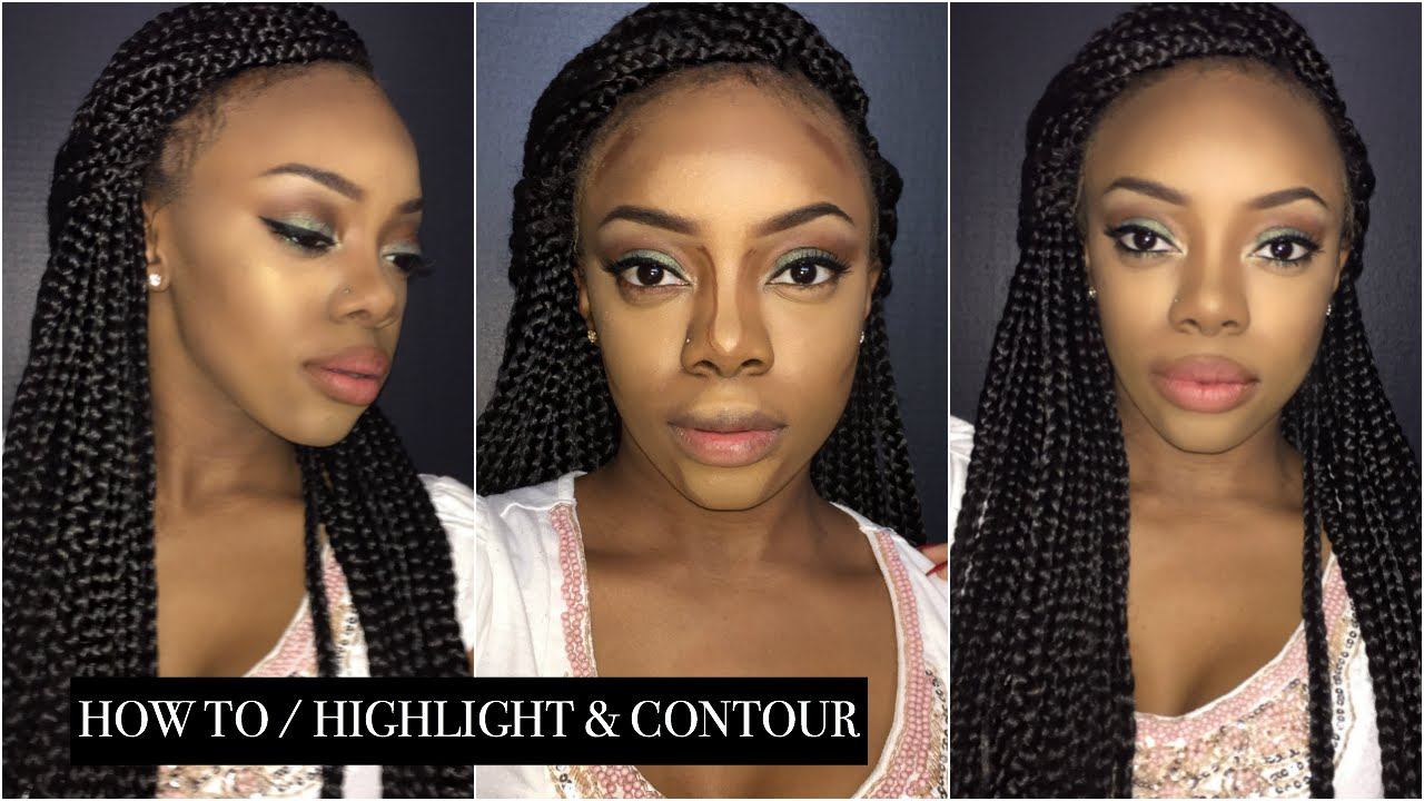 How To: Highlight & Contour Using Nyx Conceal, Correct, Contour Palette  (woc Friendly)  Just Ana