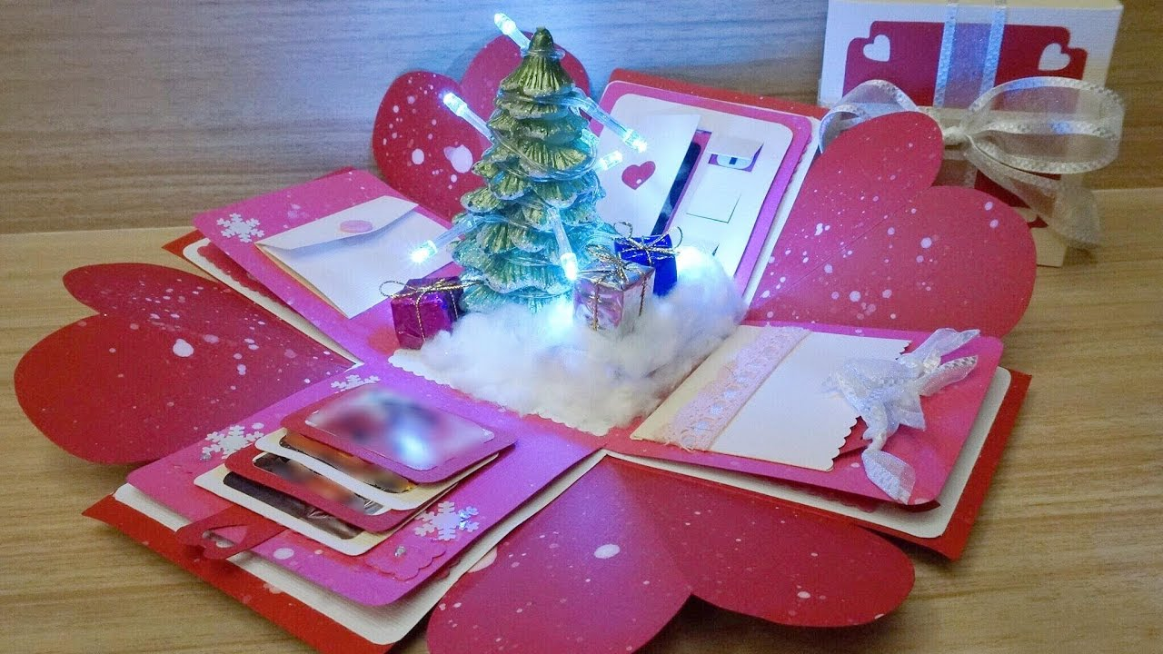 Lit Up Christmas Exploding Box Youtube & Exploding Gift Box Confetti - Arenda-stroy
