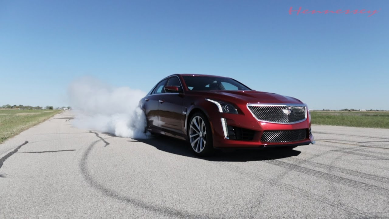 750 HP 2016 Cadillac CTS-V in Action - YouTube