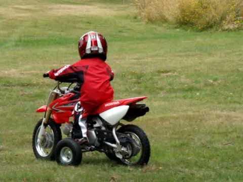 Honda CRF50F Training Wheels - YouTube