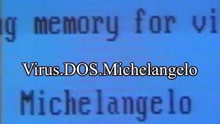 Virus.DOS.Michelangelo (25 years later)