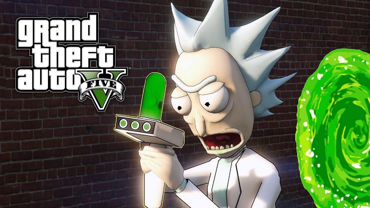 GTA 5 MOD - Evil Morty & Evil Rick! (Rick and Morty