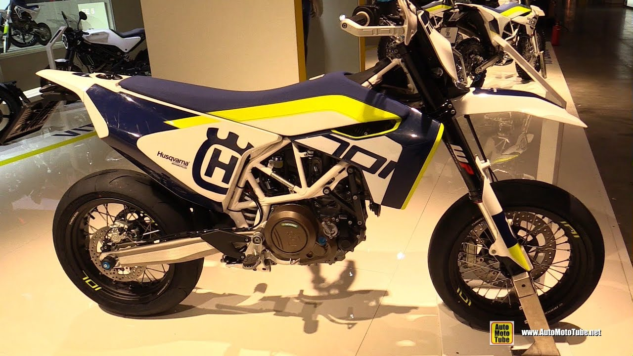 2019 Husqvarna 701 Supermoto Walkaround 2018 Eicma Milan Youtube
