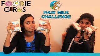 2 LITERS OF RAW MILK GIRLS DRINKING CHALLENGE   FOOD CHALLENGE TAMIL   FOODIE GIRLS